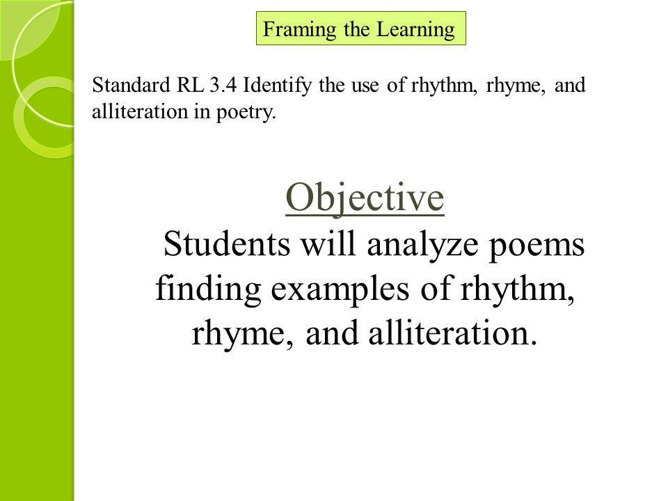 Poetry Unit Of Study Lesson 5 Of 5 2 Nd Grade Rhythm Rhyme And