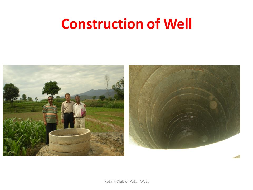 Construction of Well Rotary Club of Patan West