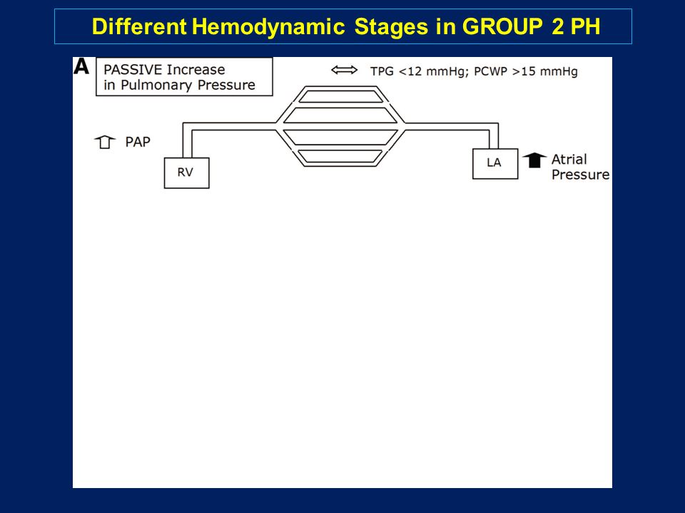 Different Hemodynamic Stages in GROUP 2 PH