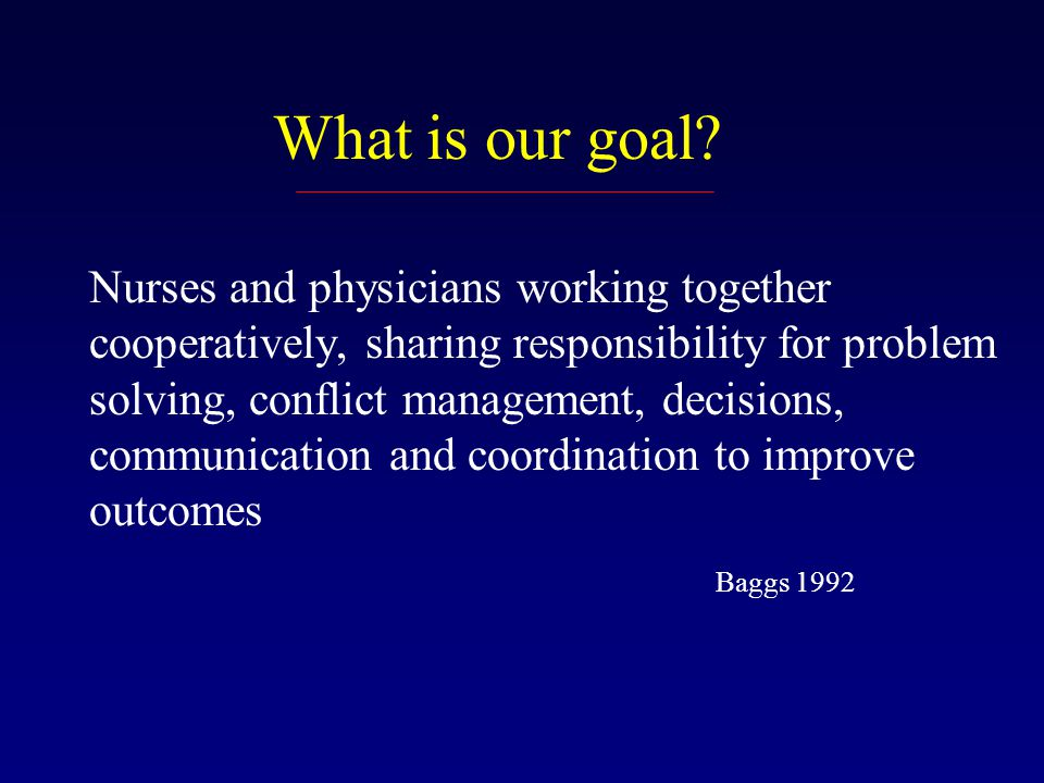 What is our goal.