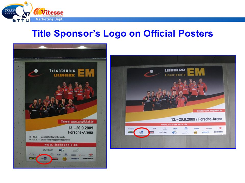 Title Sponsor's Logo on Official Posters