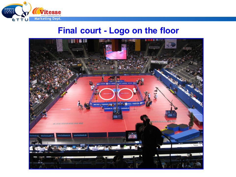 Final court - Logo on the floor