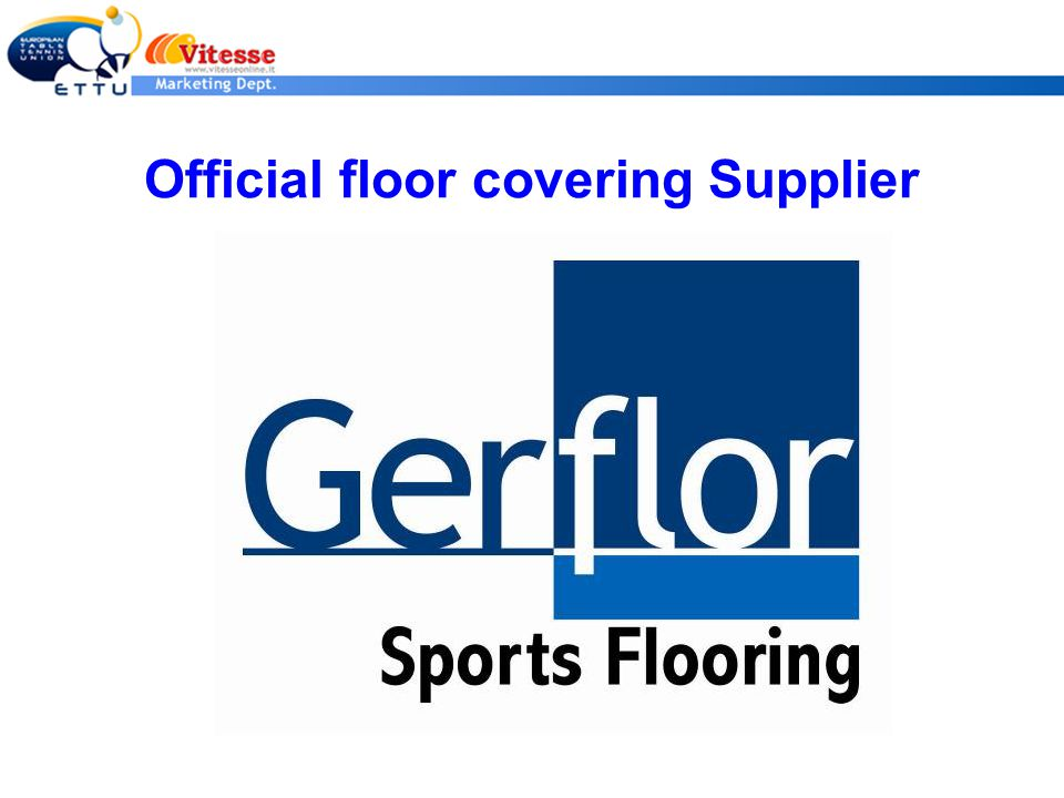 Official floor covering Supplier