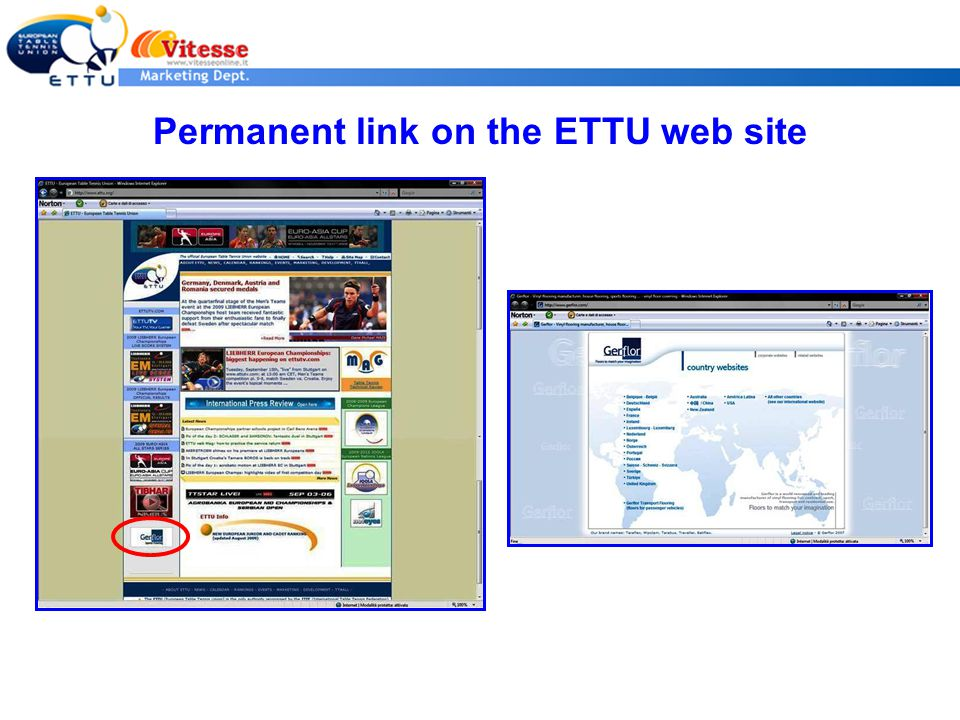 Permanent link on the ETTU web site