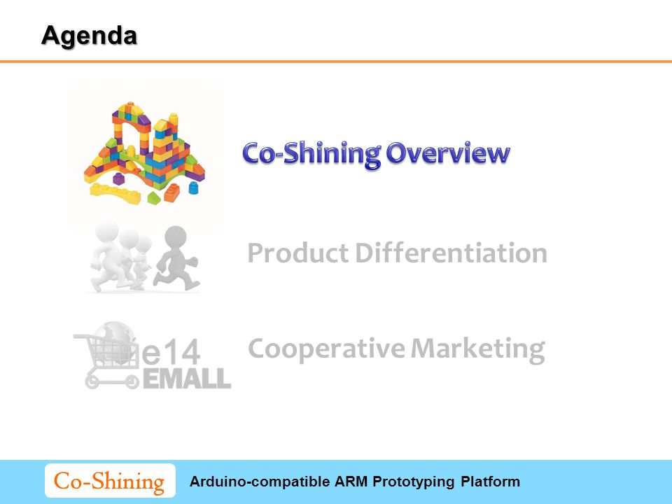 Arduino-compatible ARM Prototyping Platform Co-Shining Product Differentiation Cooperative Marketing Agenda
