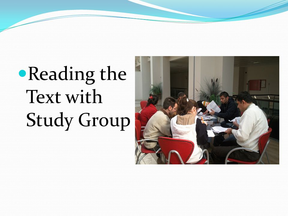 Reading the Text with Study Group