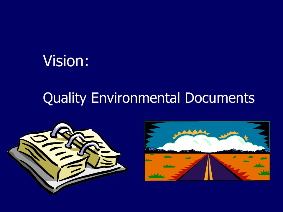 Vision: Quality Environmental Documents