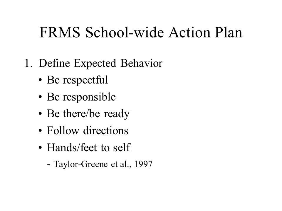 FRMS School-wide Action Plan 1.