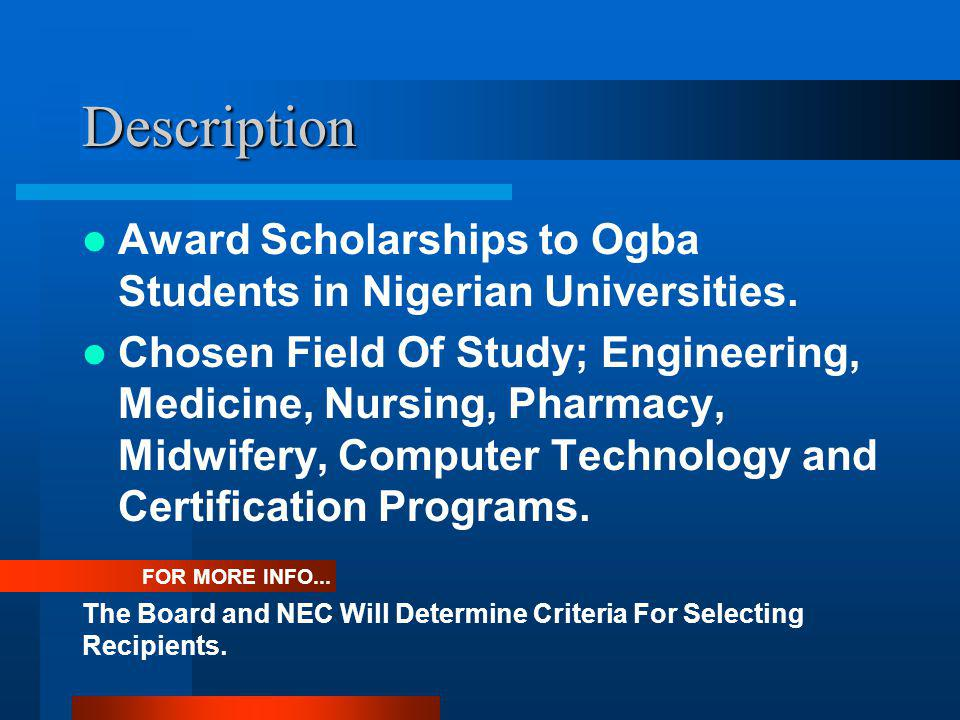 Project Overview Scholarship Award Umuogba Usa Inc Alexander