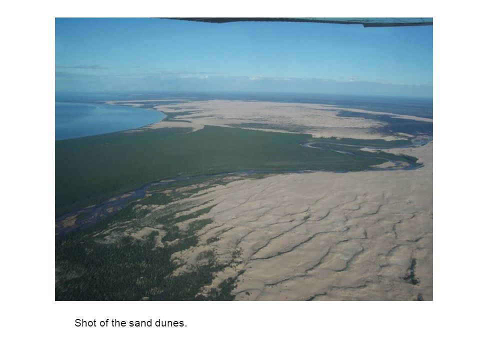 Shot of the sand dunes.