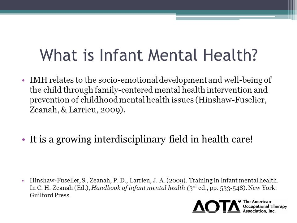 What is Infant Mental Health.