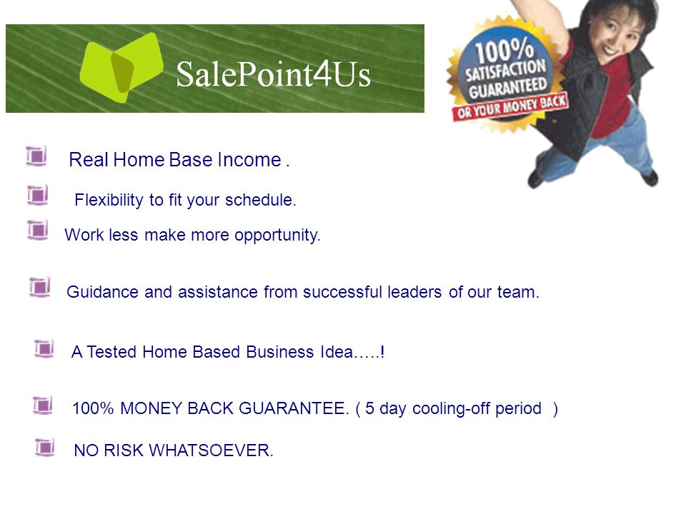 Real Home Base Income. Flexibility to fit your schedule.