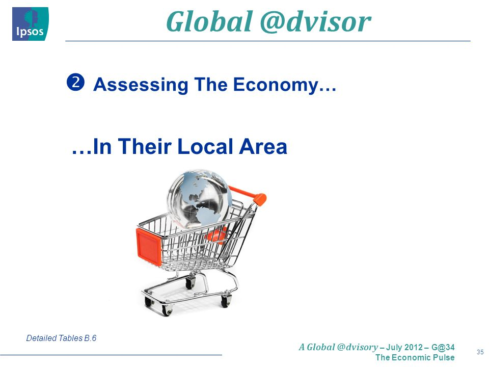 35 A Global @dvisory – July 2012 – G@34 The Economic Pulse  Assessing The Economy… Detailed Tables B.6 …In Their Local Area Global @dvisor