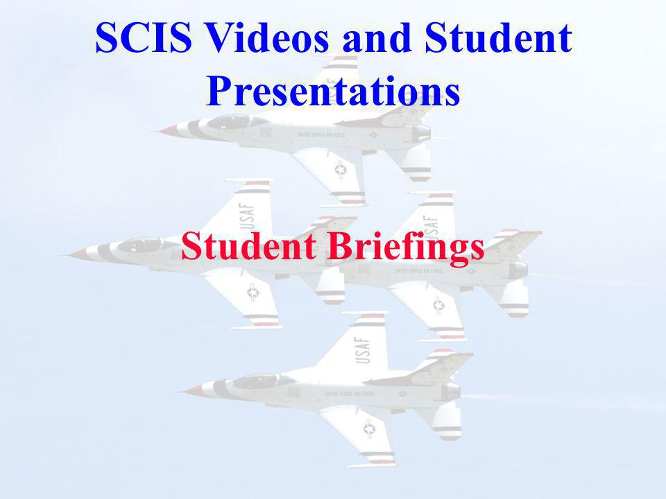 Student Briefings