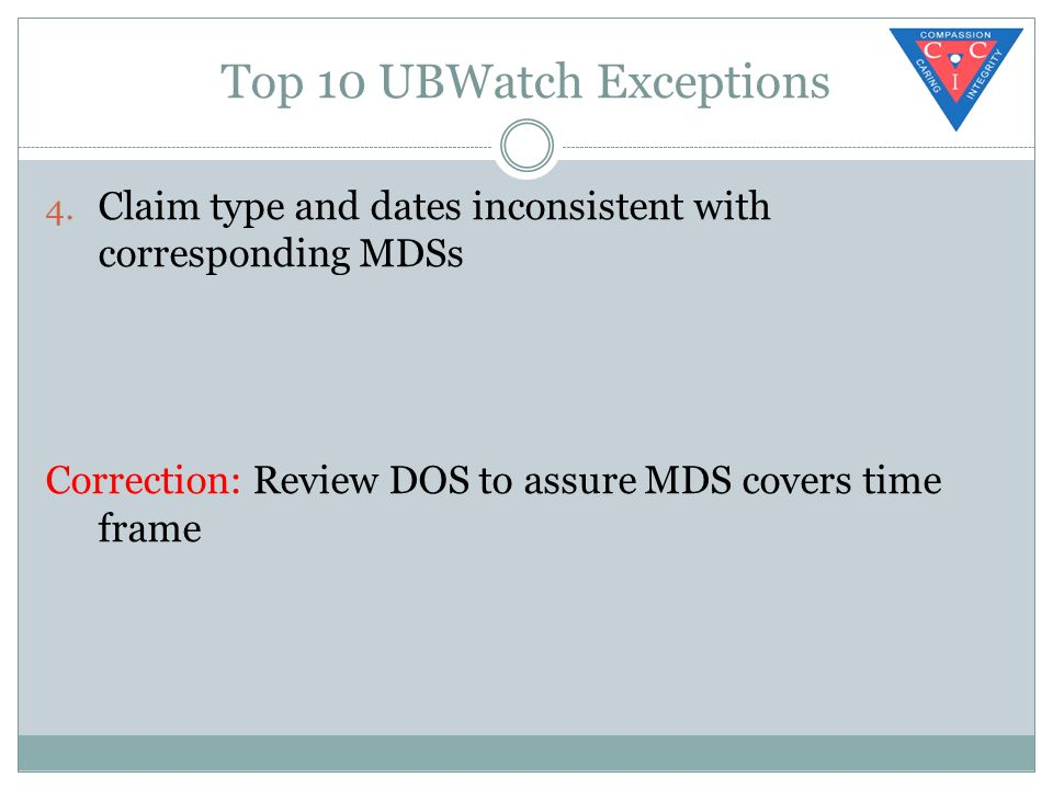 Top 10 UBWatch Exceptions 4.