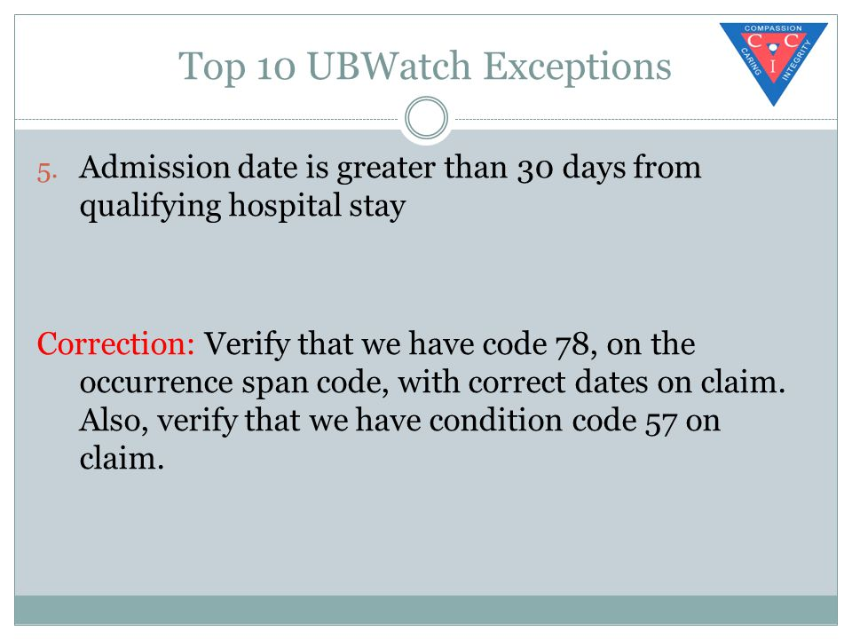 Top 10 UBWatch Exceptions 5.