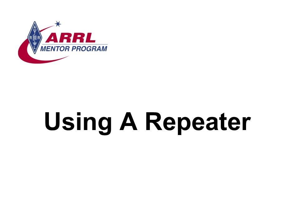 Using A Repeater