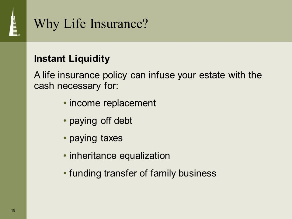 18 Why Life Insurance.