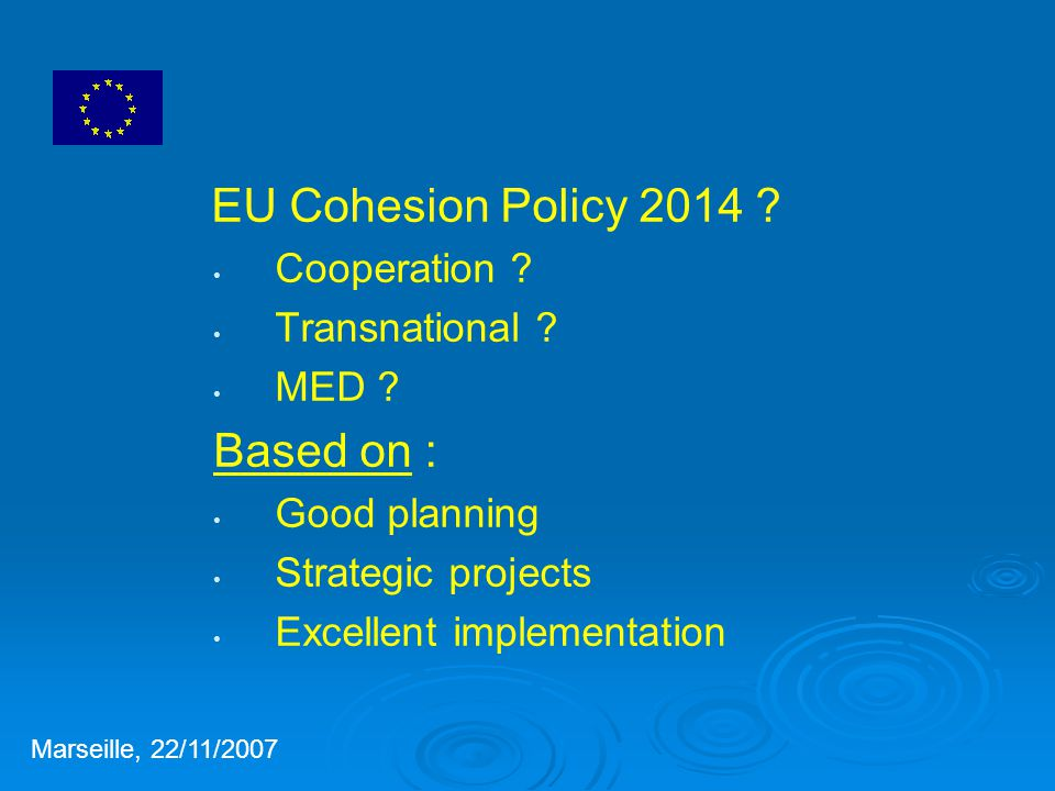 EU Cohesion Policy Cooperation . Transnational .