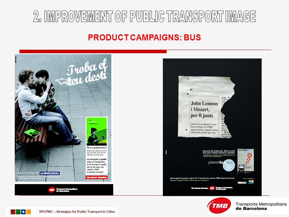 PRODUCT CAMPAIGNS: BUS