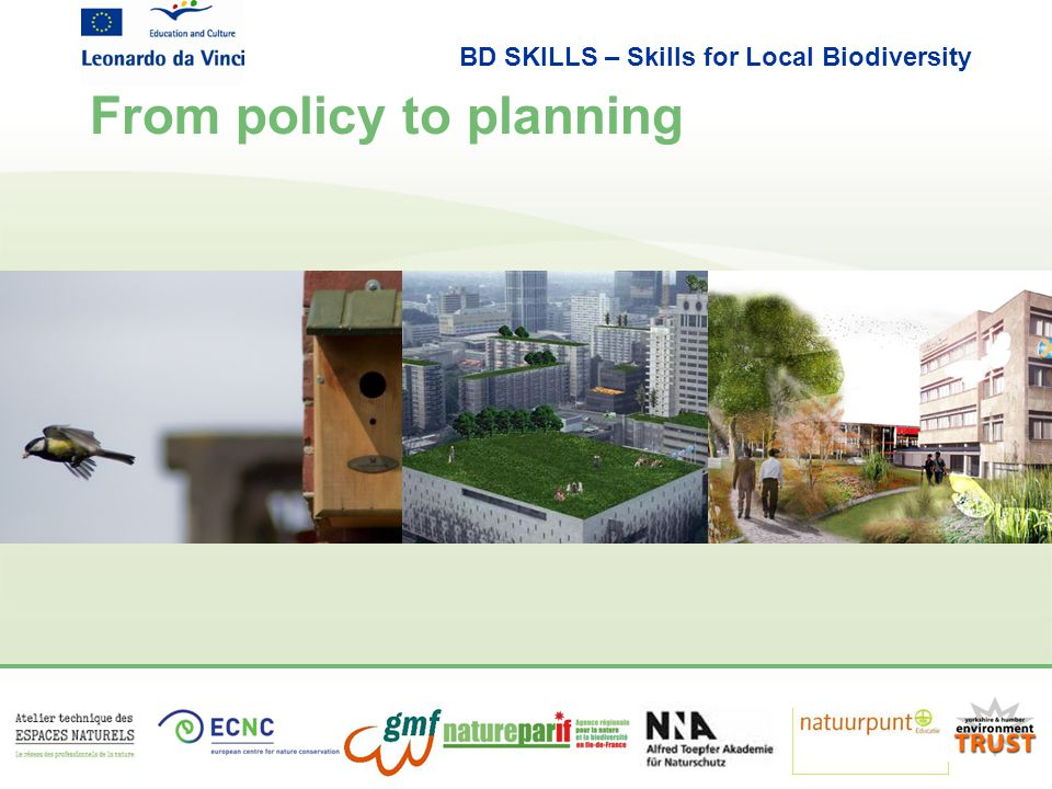 BD SKILLS – Skills for Local Biodiversity From policy to planning