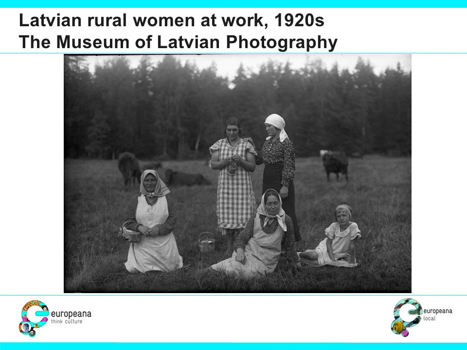 Latvian rural women at work, 1920s The Museum of Latvian Photography