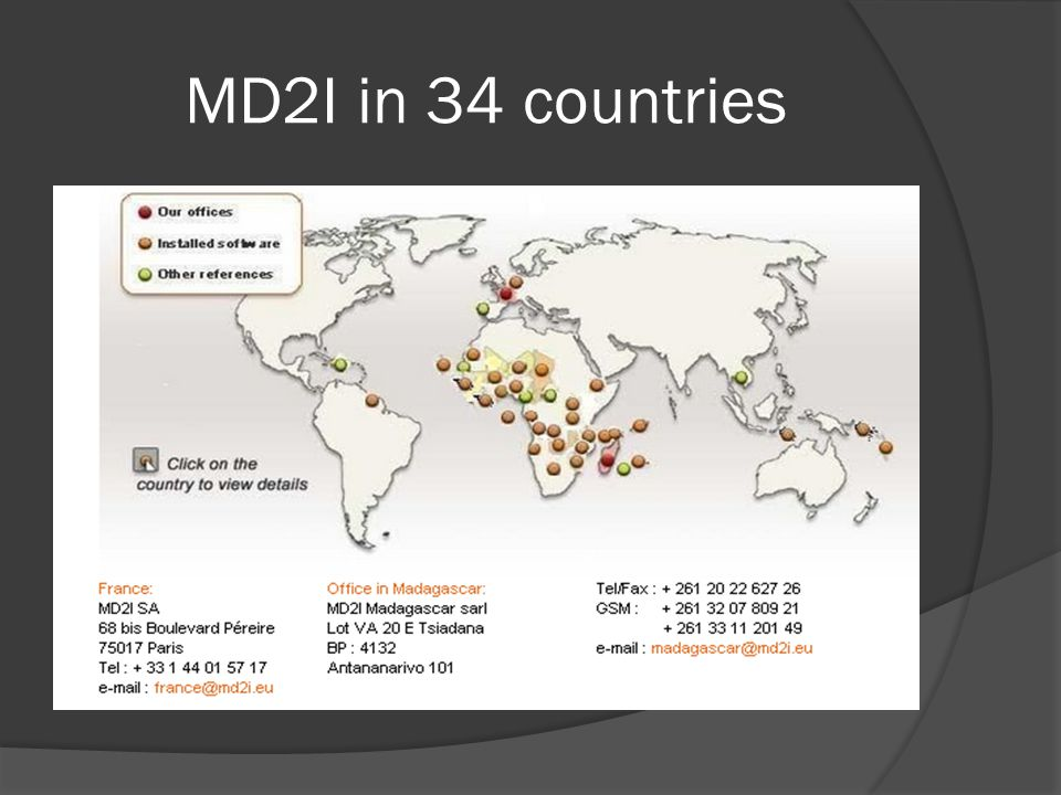 MD2I in 34 countries