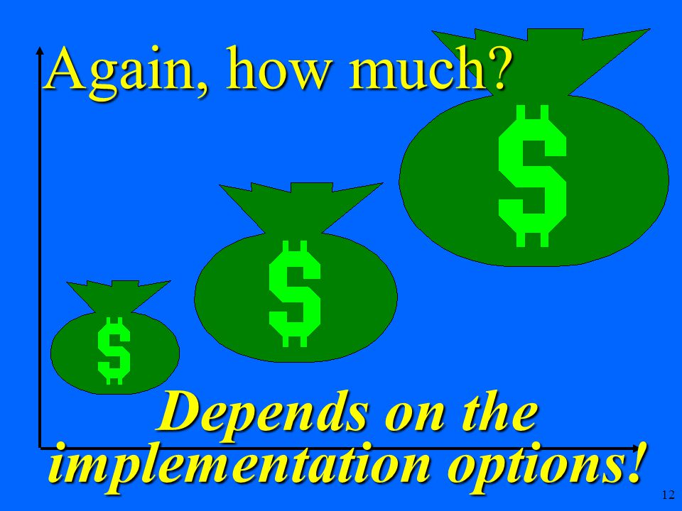 12 Again, how much Depends on the implementation options!