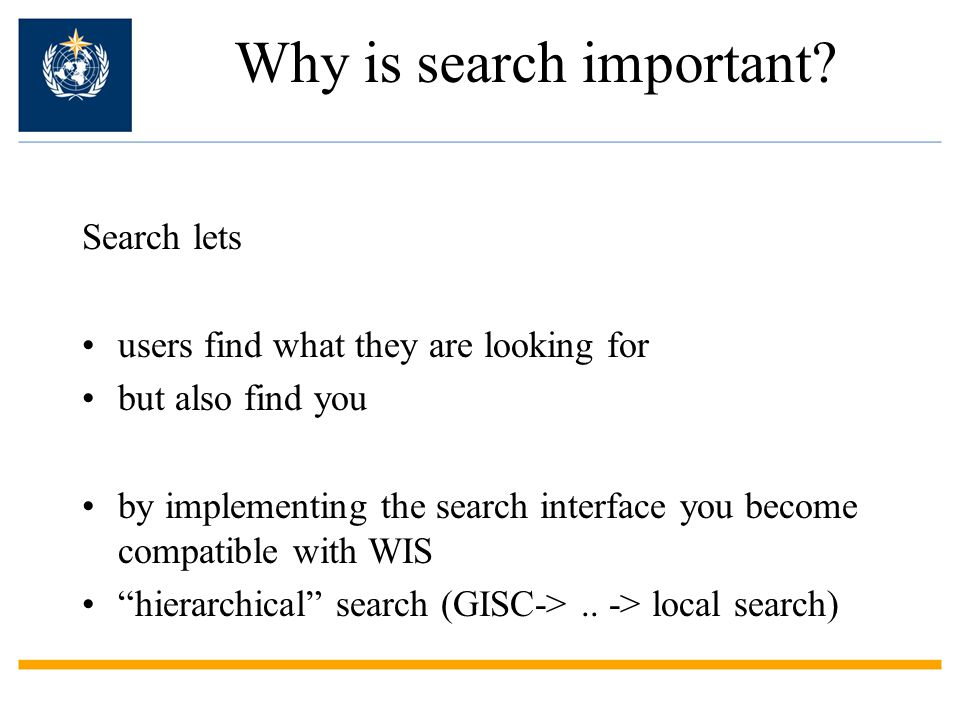 Why is search important.