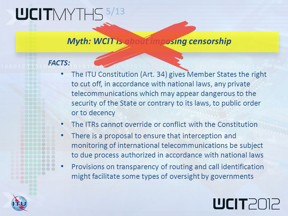 FACTS: The ITU Constitution (Art.