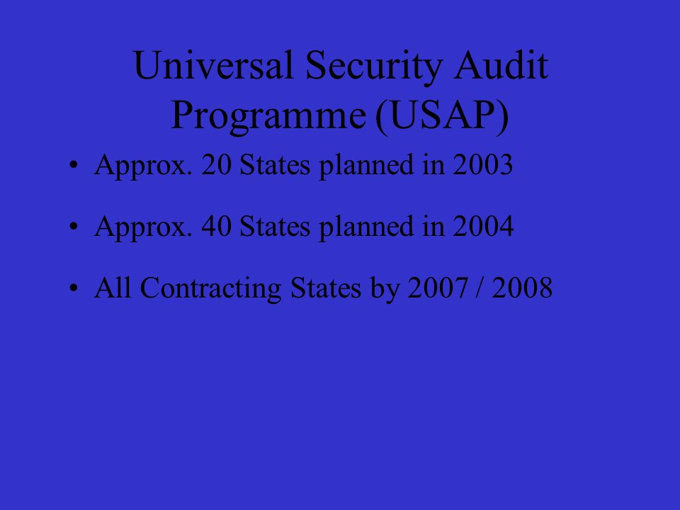 Approx. 20 States planned in 2003 Approx.