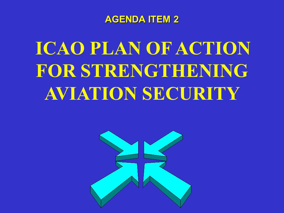 AGENDA ITEM 2 ICAO PLAN OF ACTION FOR STRENGTHENING AVIATION SECURITY