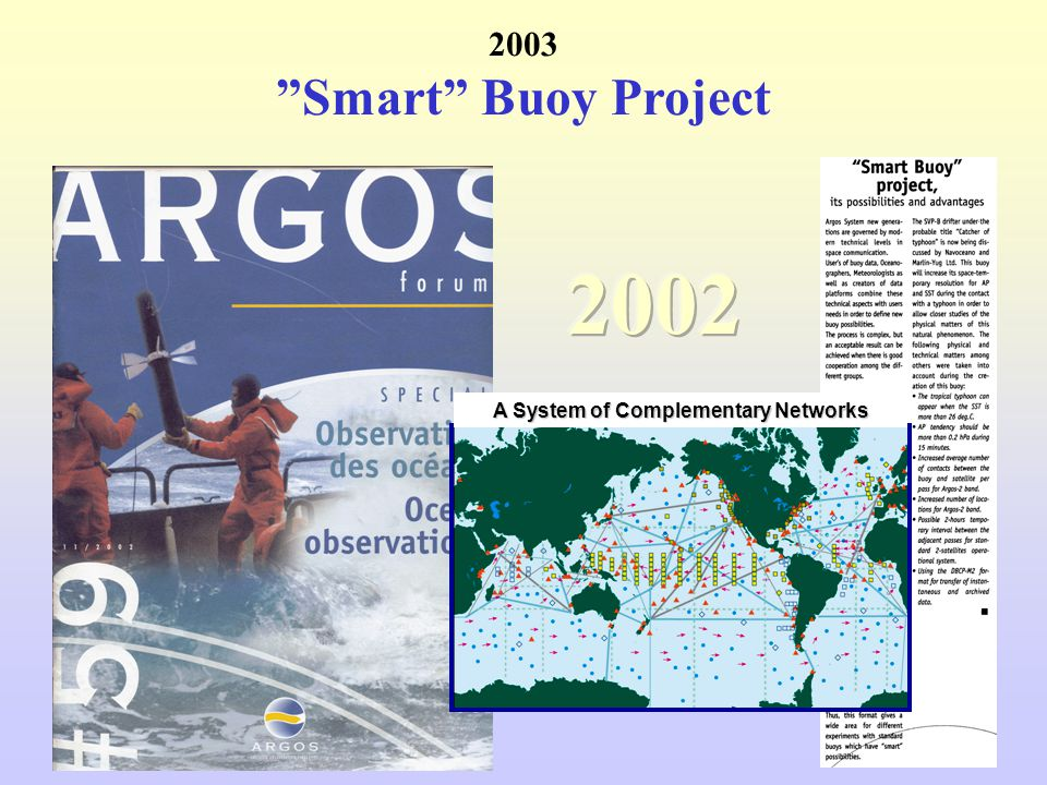 2003 Smart Buoy Project A System of Complementary Networks