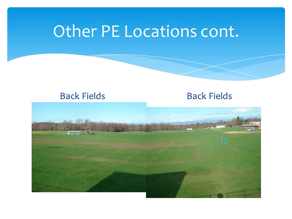 Other PE Locations cont. Back Fields