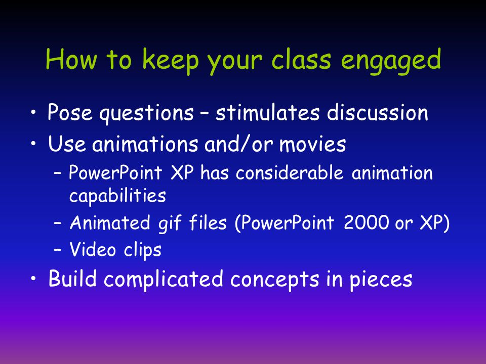  Do you want your students to participate in class.