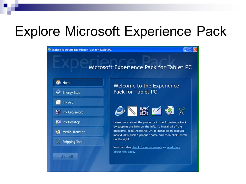 Explore Microsoft Experience Pack