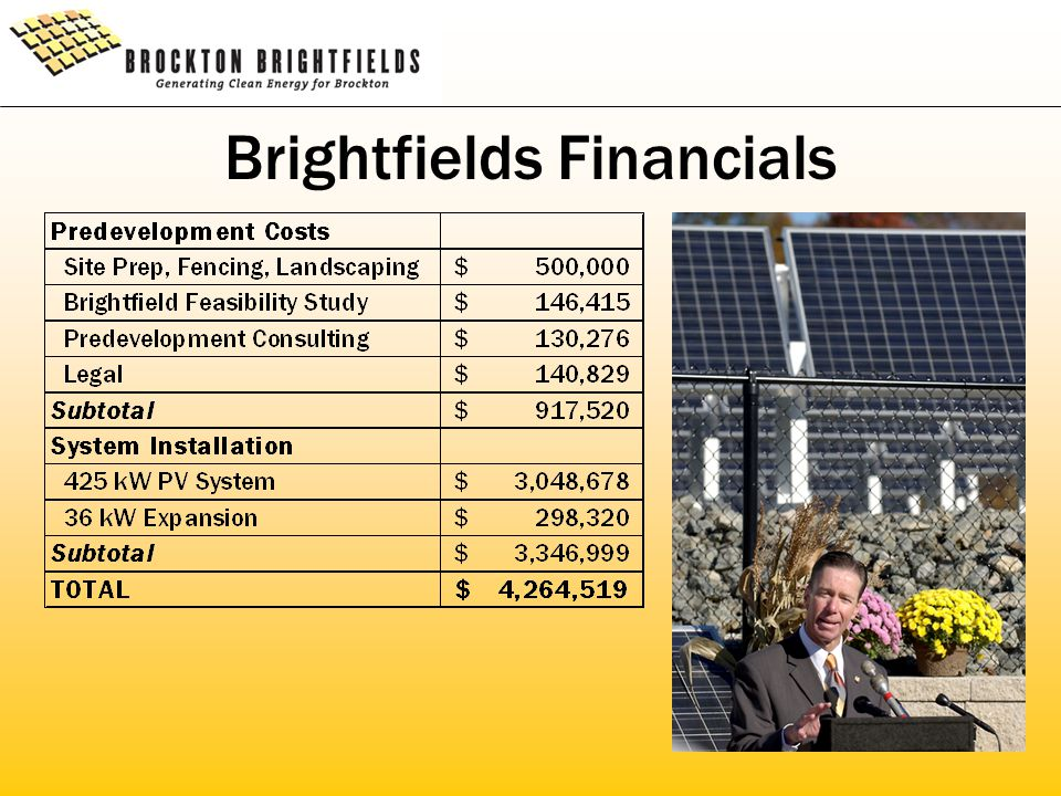 Brightfields Financials