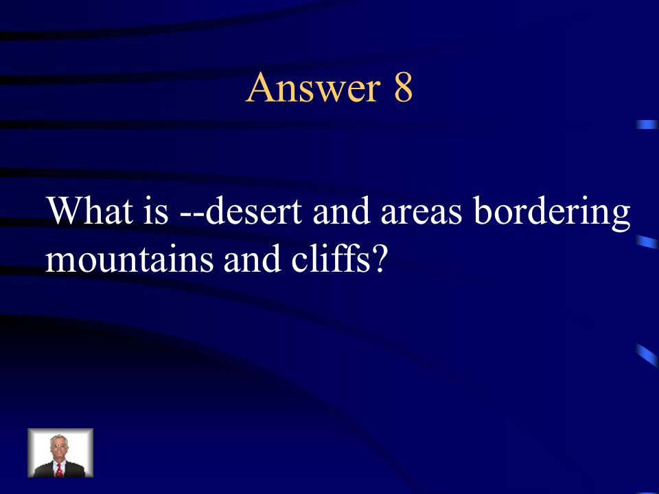 Question 8 Describe the area where the Pueblo Indians live.