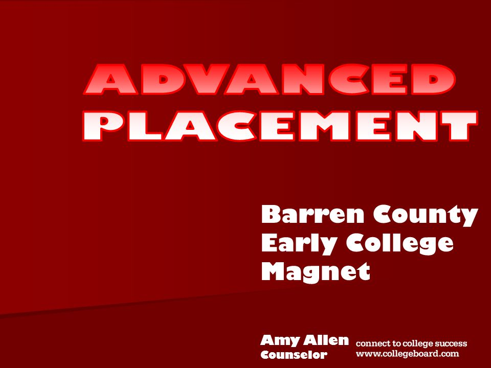 Barren County Early College Magnet Amy Allen Counselor