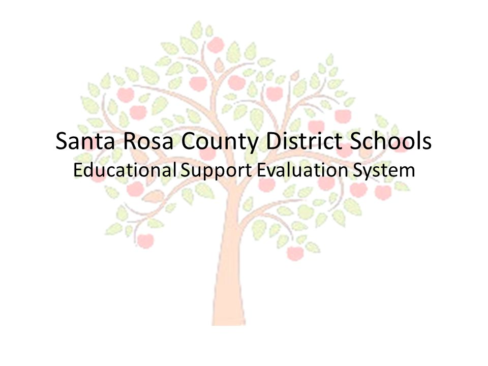 Santa Rosa County District Schools Educational Support Evaluation System