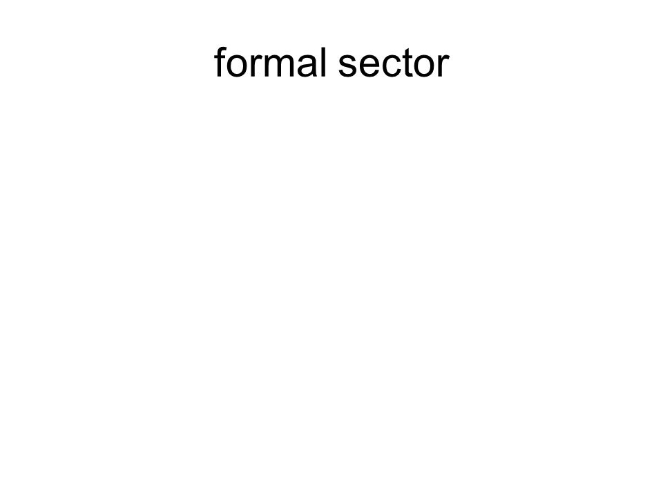 formal sector