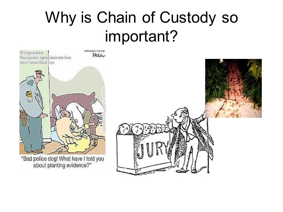 Why is Chain of Custody so important