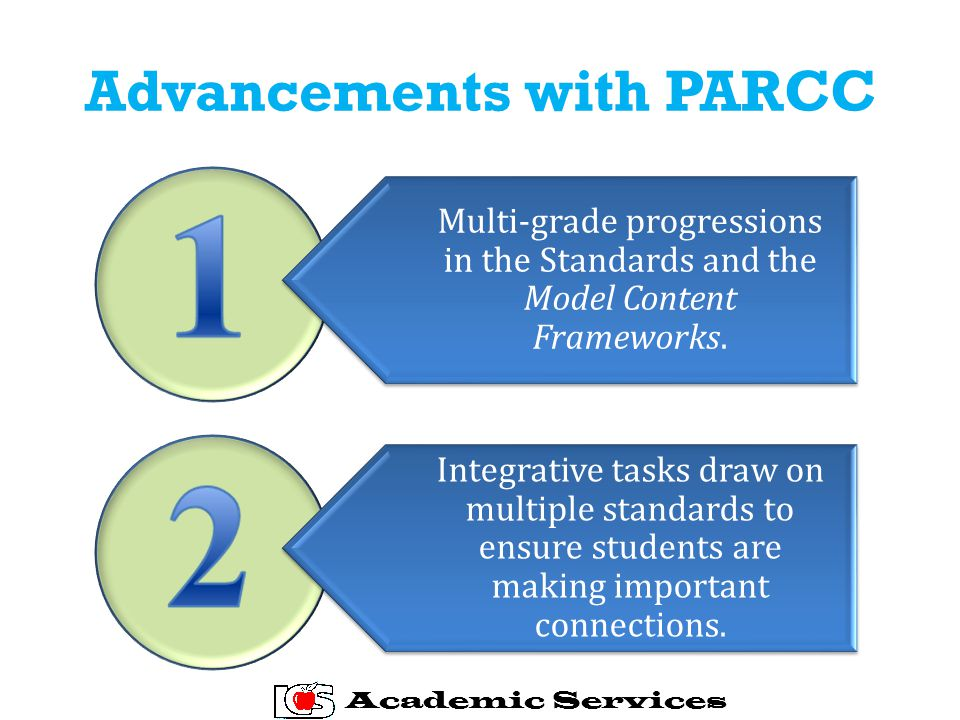 Advancements with PARCC Multi-grade progressions in the Standards and the Model Content Frameworks.