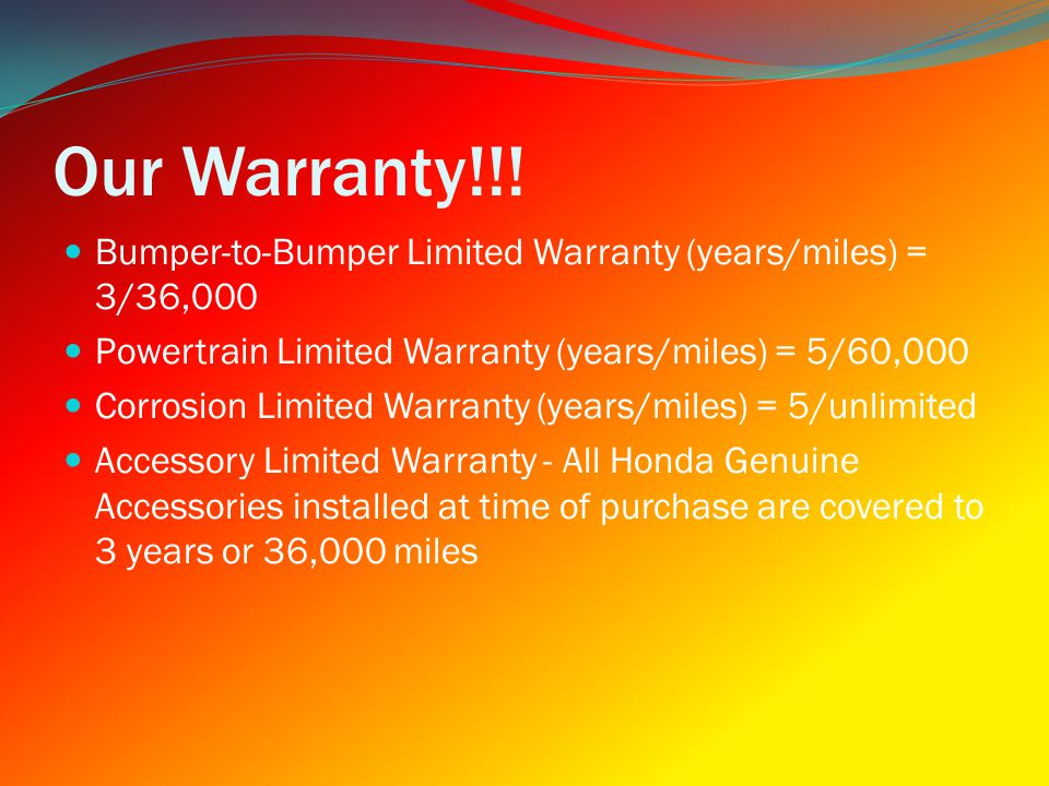 Our Warranty!!.