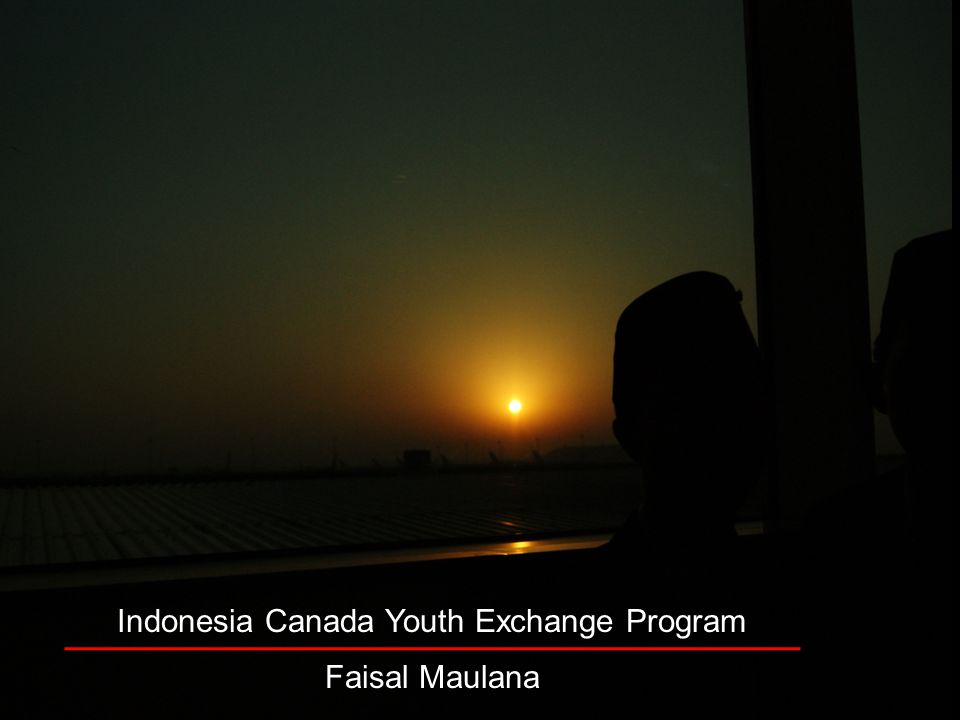 Indonesia Canada Youth Exchange Program Faisal Maulana