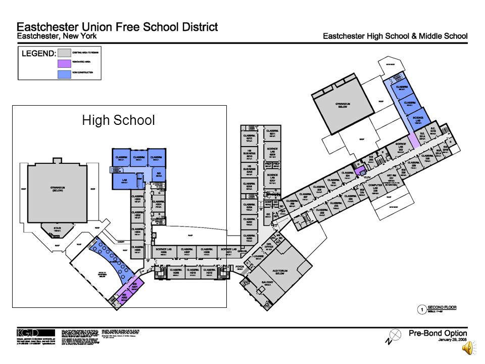 Eastchester Union Free School District Proposition One Second Floor Middle School & High School