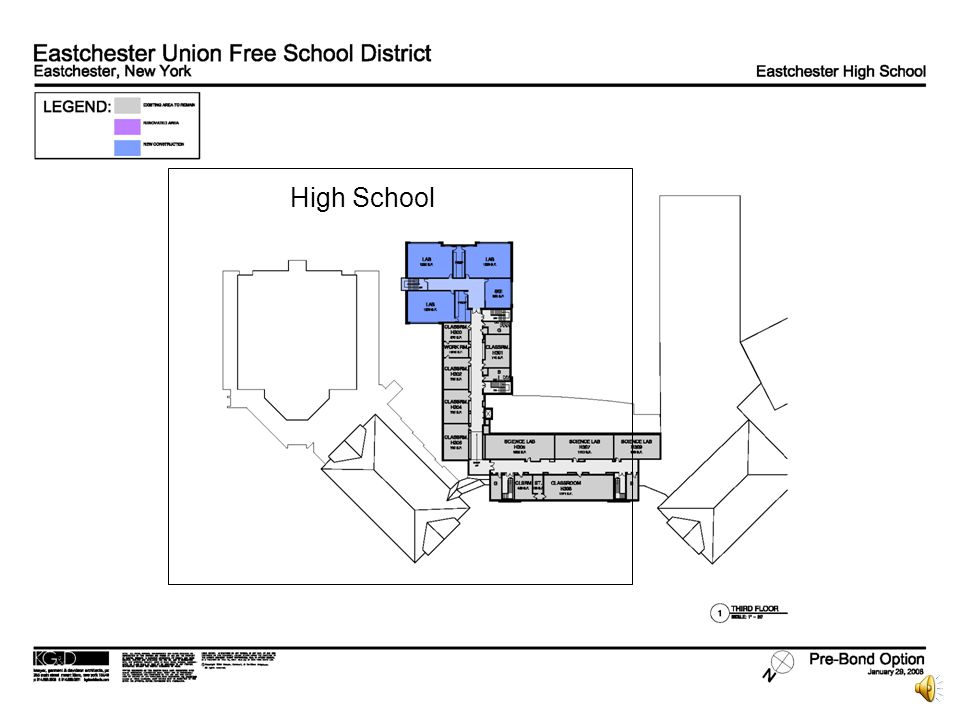 Eastchester Union Free School District Proposition One Third Floor High School