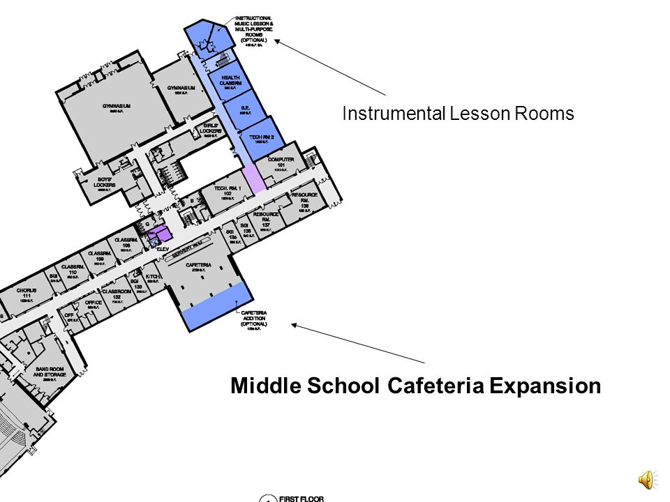 Two Instrumental Lesson Rooms 410 Square feet each