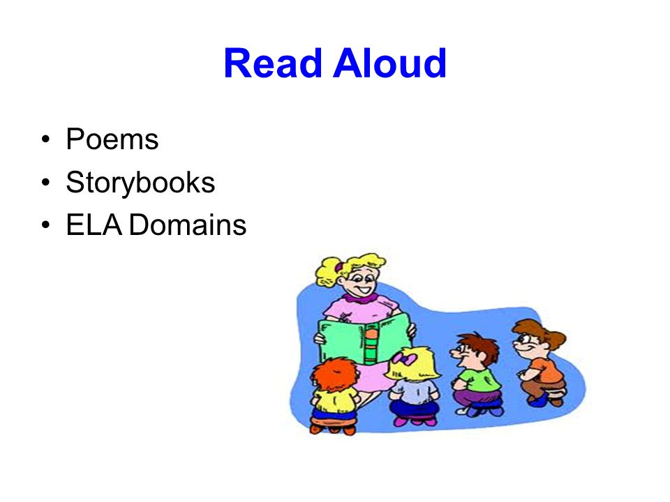 Read Aloud Poems Storybooks ELA Domains