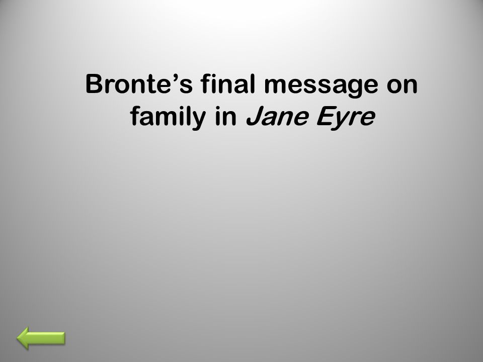 Bronte's final message on family in Jane Eyre